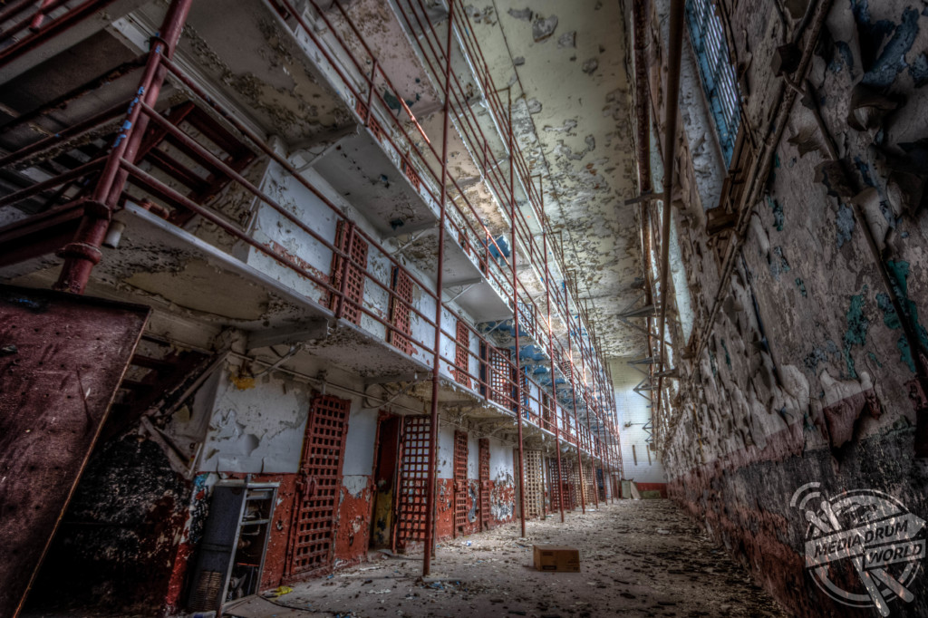 Cells inside the lost prison.