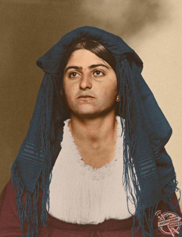 An Italian woman, c1910.