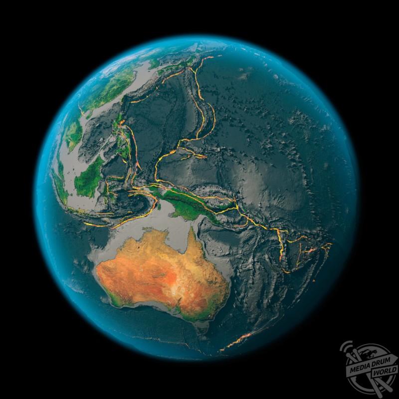 Global tectonics, western Pacific Plate