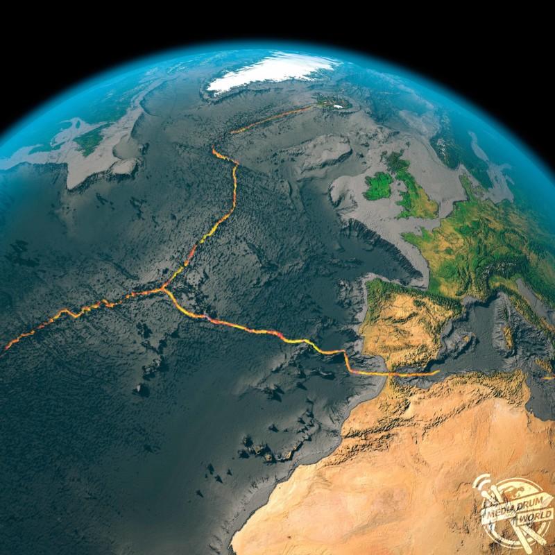 Global tectonics, north-western Atlantic