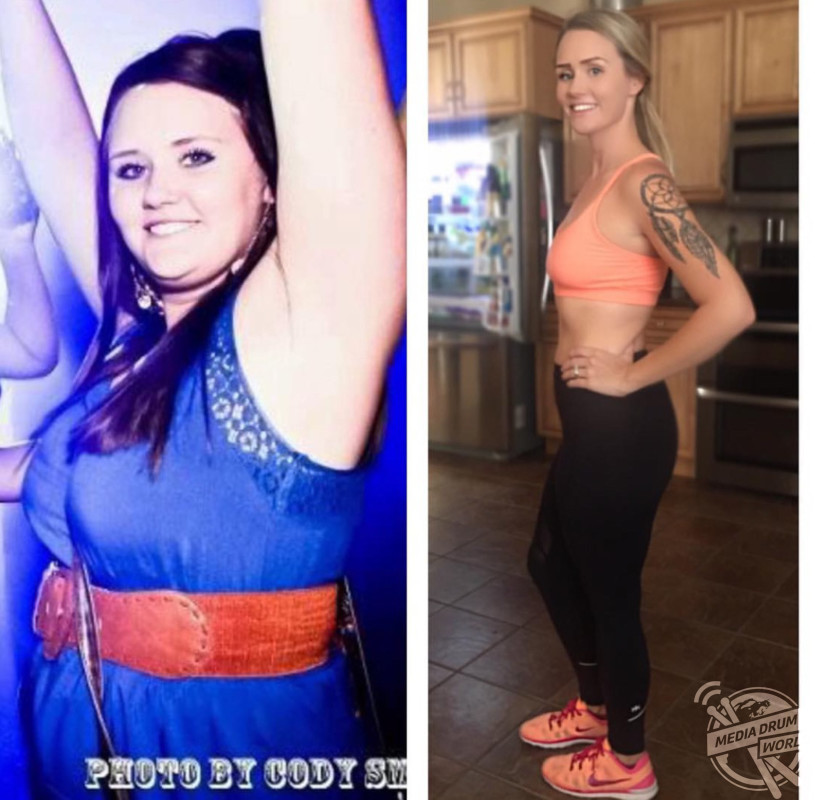 Kassidy before and after. Kassidy Linde / mediadrumworld.com