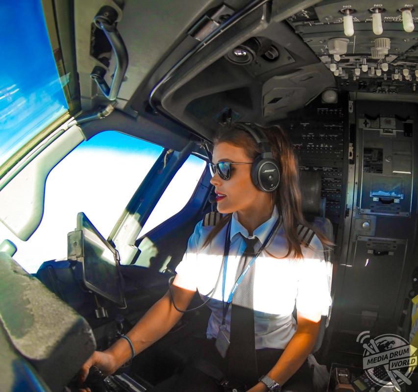 Pilot, Malin Rydqvist at work. Malin Rydqvist / mediadrumworld.com