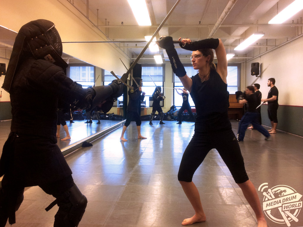 Sam at NYC Sword Class.