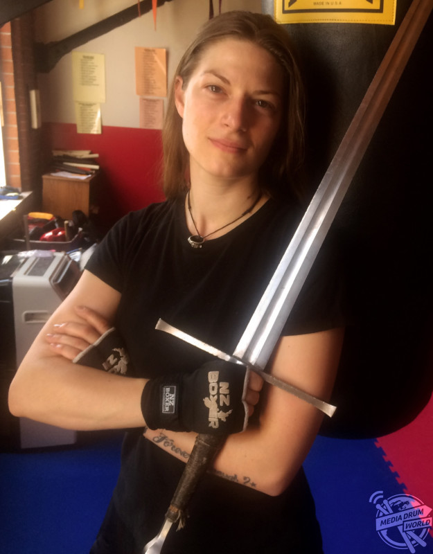 Sam with a longsword.