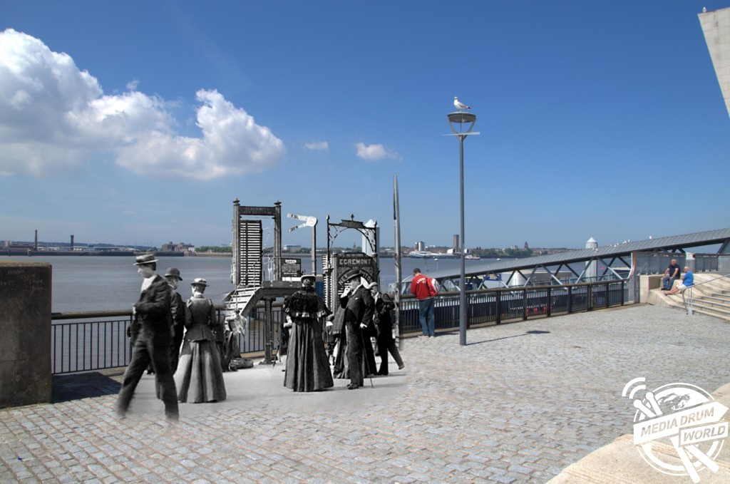 Pier Head, 1890 and today. Keith Jones / mediadrumworld.com