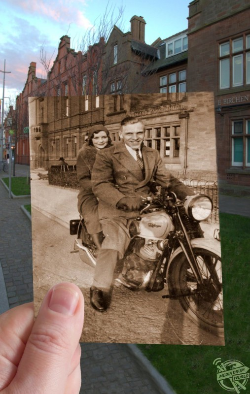 Market Street, Hoylake from the 1930s and today. Keith Jones / mediadrumworld.com