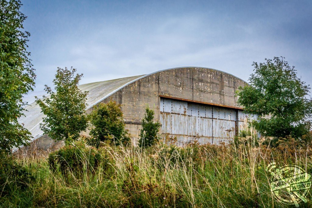 A hangar at the former RAF Llandow in South Wales.