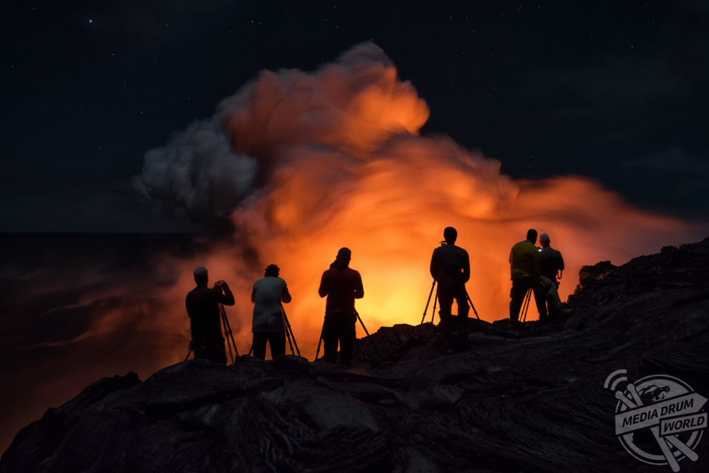 HAWAII, USA: AMAZING pictures and video have captured tourists posing at the aftermath of a recent eruption at the world's longest running active volcano, Kilauea. Miles Morgan / mediadrumworld.com