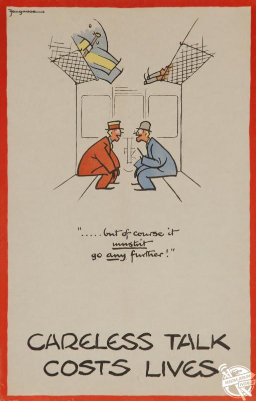 'Careless Talk Costs Lives' Great Britain poster, 1943. David Pollack / mediadrumworld.com