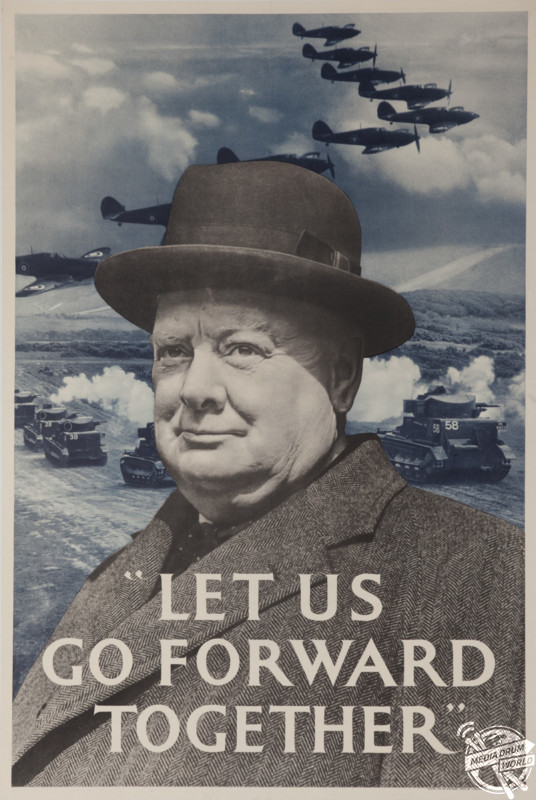 'Let Us Go Forward Together' Great Britain poster, 1940. David Pollack / mediadrumworld.com