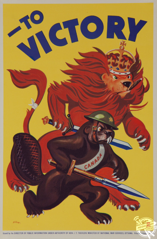 'To Victory' Canada poster, 1942. David Pollack / mediadrumworld.com