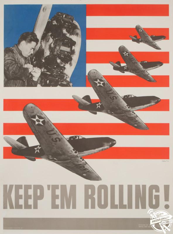 'Keep 'Em Rolling', U.S Poster 1941. David Pollack / mediadrumworld.com