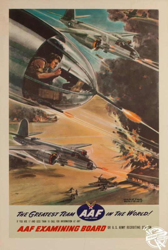 'AAF - Greatest Team In the World', 1944, U.S poster. David Pollack / mediadrumworld.com