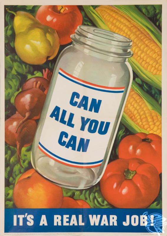 """Can All You Can"" U.S poster, 1943. David Pollack / mediadrumworld.com"