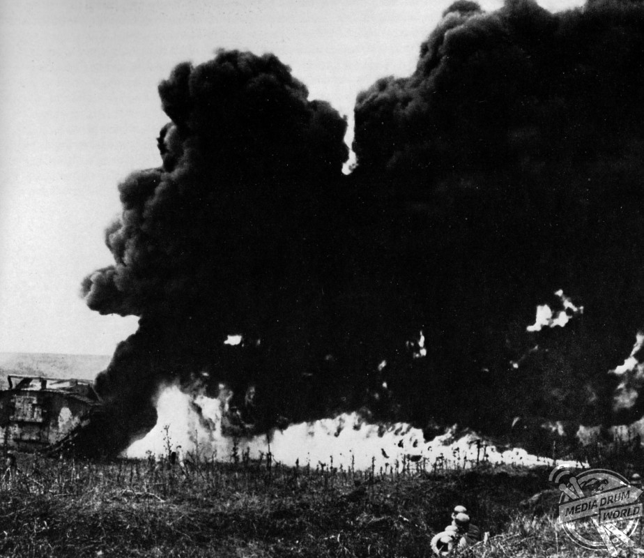To counter British tanks the Germans used flamethrowers and artillery.  Anthony Tucker-Jones / mediadrumworld.com