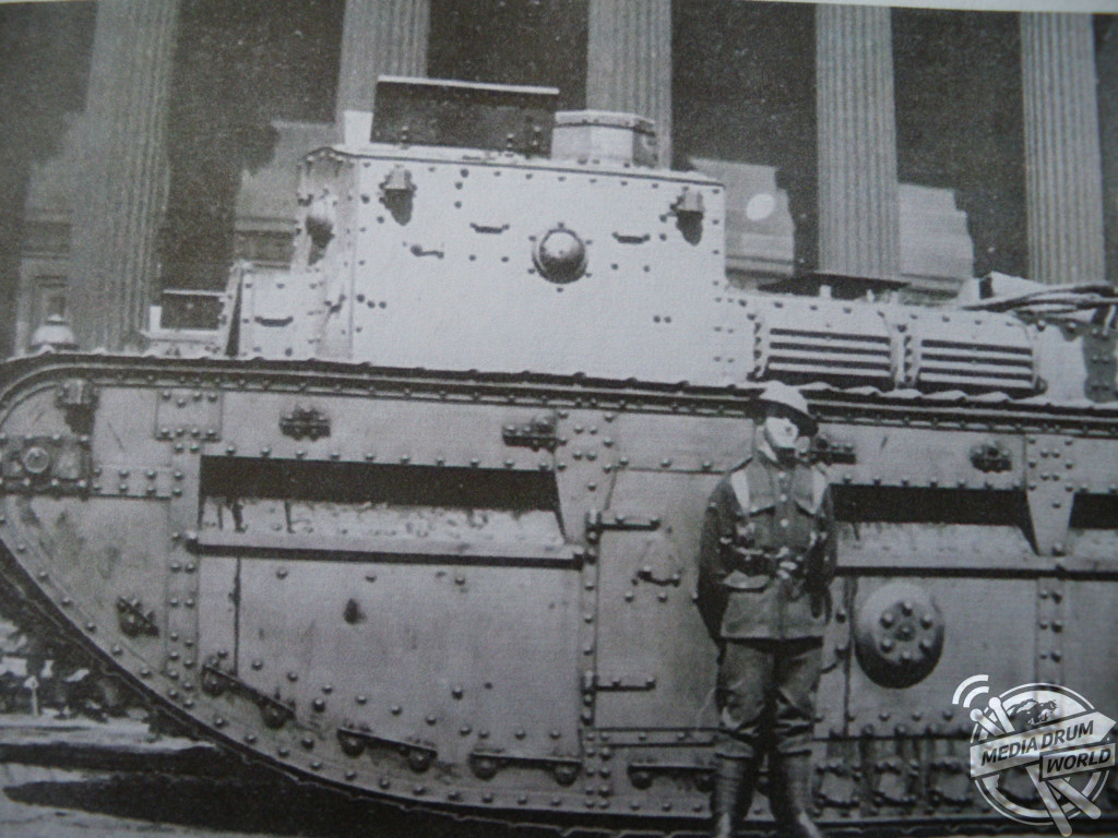A soldier and tank in the centre of Liverpool  during  the riots of August 1919.  Simon Webb / mediadrumworld.com