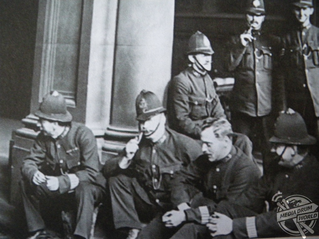 Police officers on strike in London in 1919.  Simon Webb / mediadrumworld.com