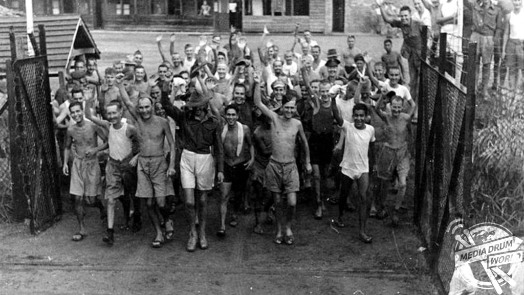 Australian PoWs liberated after Japanese had surrendered Singapore to the Allies.  Stephen Wynn / mediadrumworld.com