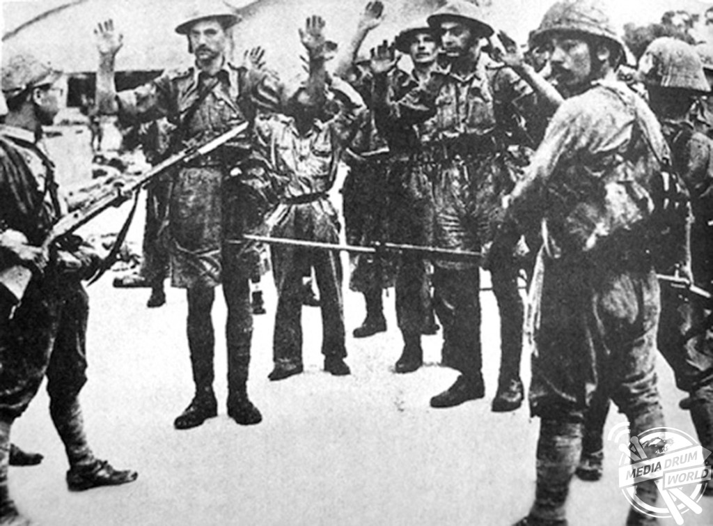 British troops surrendering to the Japanese in Singapore. Stephen Wynn / mediadrumworld.com