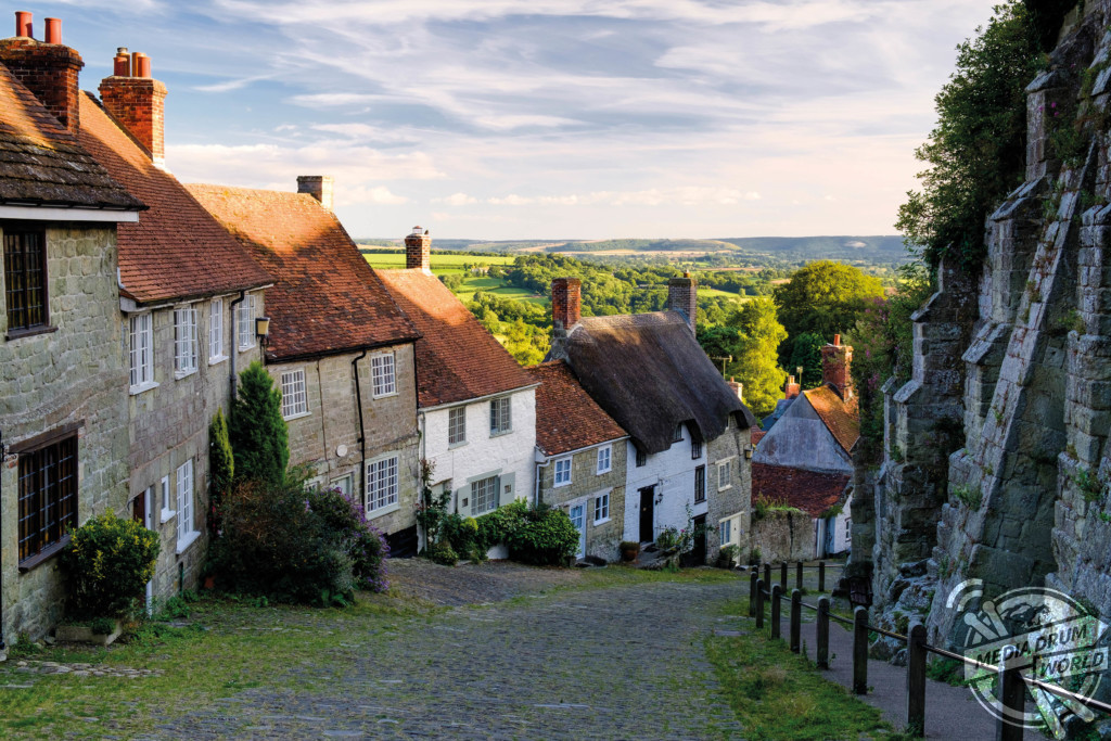 The classic view from the top of Gold Hill, as featured in Ridley Scott's Hovis advert.  Mark Bauer / mediadrumworld.com