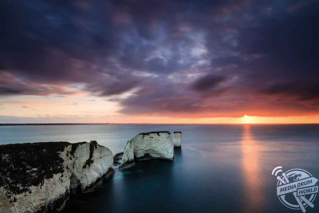 Spring sunrise at Old Harry Rocks.  Mark Bauer / mediadrumworld.com